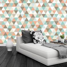 30.00$  Watch now - http://ali70m.shopchina.info/go.php?t=32690048068 - Custom papel DE parede infantil,Geometric triangular pattern,3D modern mural for living room bedroom TV wall wallpaper  #SHOPPING