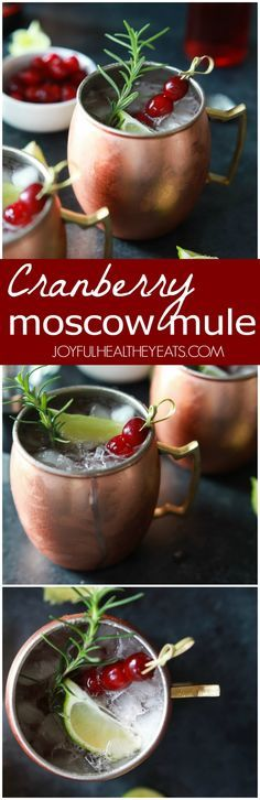 This Cranberry Moscow Mule recipe is made with rosemary infused Vodka. A light, refreshing, delicious Moscow Mule cocktail filled with holiday cheer! Quick Easy Dinner, Quick Dinner Recipes, Easy Healthy Recipes, Quick Easy Meals, Holiday Recipes, Christmas Recipes, Christmas Ideas, Christmas Snacks, Holiday Meals