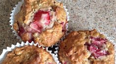 Start your day with these delightful, flavorful strawberry cinnamon oatmeal muffins!