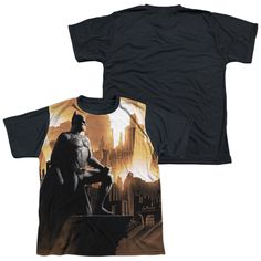 BATMAN BEGINS/MY CITY-S/S YOUTH WHITE FRONT BLACK BACK -WHITE-XL