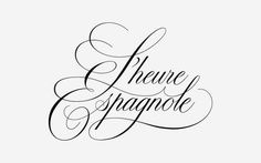 L'heure Expancole Hand-drawn Logotype by Michelle Han, via Behance