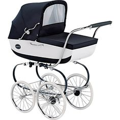 Inglesina Classica Navy/White Pram/Stroller... when I have a baby I want this :-)