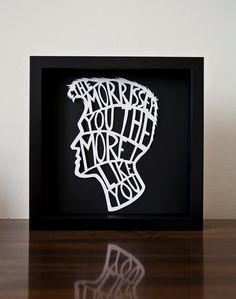 Celebrity Sentiments The Morrissey You The More by closecallstudio, $35.00