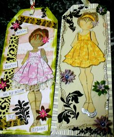 prima doll stamp...double ruffle girl