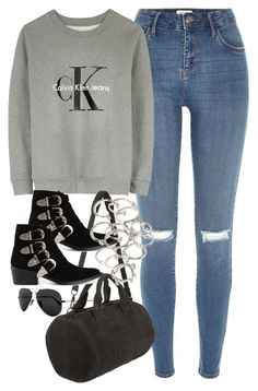 """""""Untitled #1129"""" by megan-trinite ❤ liked on Polyvore featuring River Island, Calvin Klein, Alexander Wang, Toga, Forever 21 and Ray-Ban"""