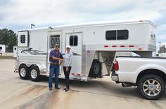 Congratulations to Cathy Valentine of Montgomery, TX on her new 2 Horse Straight Load Gooseneck w/ Quiet Ride! She purchased her trailer from Nick Garcia at Gulf Coast 4-Star Trailer Sales.  (877) 543-0733