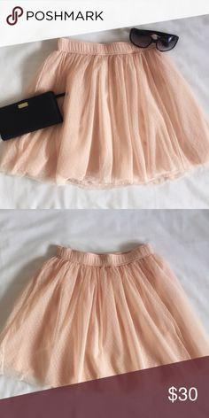 Light Pink Tulle Hollister Skirt Like new Hollister Belmont Shore Tutu Skater Skirt. Never worn. Skirt is lined and has a small polka dot detail on the tulle. Hollister Skirts Circle & Skater
