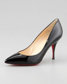 Piou Piou Patent Point-Toe Red Sole Pump, Black by Christian Louboutin at Neiman Marcus.