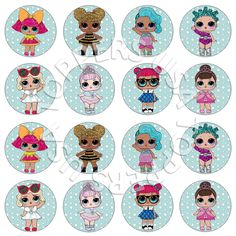 16x EDIBLE LOL Surprise Dolls Cupcake Toppers  **NO LONGER AVAILABLE ON EBAY, CONTACT ME AT TOPPERSUSA1@GMAIL.COM TO PURCHASE**  Birthday party Wafer Paper 4cm (uncut) diy idea ideas cake decor decorating decoration