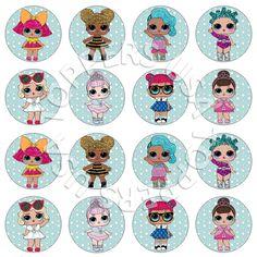 16x EDIBLE LOL Surprise Dolls Cupcake Toppers Birthday party Wafer Paper 4cm (uncut) diy idea ideas cake decor decorating decoration