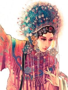 A beautiful lady from some Chinese opera (from http://www.weibo.com/u/1806910981)