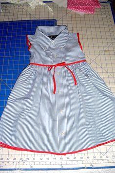Altes Hemd zum Kleid umfunktioniert