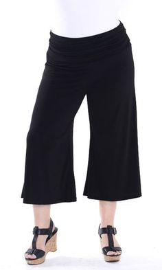 Sealed With A Kiss Designs Plus Size Essential Gaucho Pants $39.00  LOVE THESE!!
