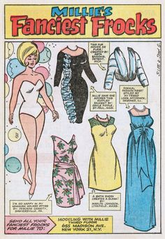 As promised, for those of you who enjoyed the Out of This World posts Cute Girlie Stuff: Paper Dolls and Katy Keene , and More Cute Girlie S...