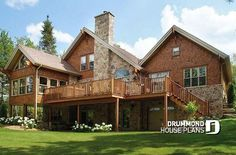 Modern Rustic chalet, 3 to 5 bedrooms, large terrace & screened porch, waterfront, vacation home # 3925    https://www.drummondhouseplans.com/house-plan-detail/info/the-lodge-cottages-chalets-1001649.html