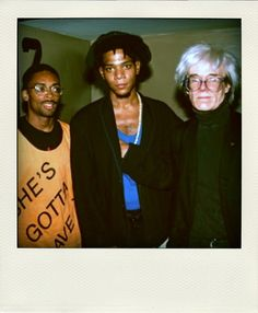 Spike Lee, Jean Michel Basquiat & Andy Warhol