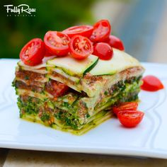 Epic Deep-Dish FullyRaw Lasagna: low fat and oil free...did I mention delicious? (raw, vegan)