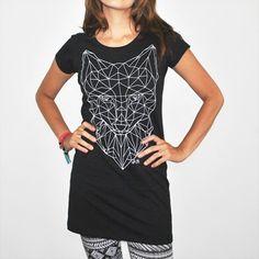 Camiseta feminina PROJECT, modelagem longa