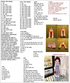 Free doll pattern in Turkish
