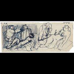 ...tutto parte dallo studio... Con il disegno... Nei disegni più che altrove si vedono le idee in movimento... #Sironi #disegni #studio #linee #idee in #movimento #arte #900 #drawing #sketch #BiennaleDisegnoRimini #rimini #buongiorno by piccolaitalian1