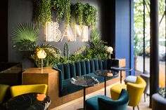 the art deco-inspired 'BAM karaoke box' has a large and luminous cocktail bar, as well as 9 private karaoke rooms each offering a unique ambience.