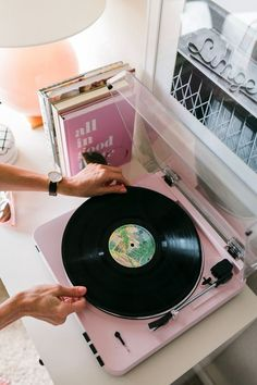 Pretty Pink Turntable: