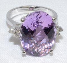 Sparkling 14K White Gold 10 Purple Amethyst & by LadyLibertyGold