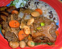 This recipe provides simple, easy steps for preparing Jamaican style braised oxtails using 3 different cooking methods. Whichever way you choose the result will be equally delicious. Braised Oxtail, Oxtail Recipes, Butter Beans, Pot Roast, Cooker, Tasty, Fresh, Dinner, Drinks