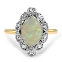 14K Yellow Gold, Selective Rhodium Plating The Kristy Ring from Brilliant Earth