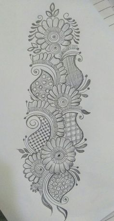 40 Easy Flower Pencil Drawings For Inspiration Peacock Mehndi Designs, Mehndi Designs Book, Indian Mehndi Designs, Mehndi Designs 2018, Mehndi Designs For Girls, Modern Mehndi Designs, Mehndi Design Pictures, Wedding Mehndi Designs, Mehndi Designs For Fingers