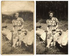 """Vintage/Antique Photo Restoration by Katie Skelton. """"I believe it is my great grandmother. Any resemblance!?"""" Contact me for commissions! www.katieskeltoncs.com Antique Photos, Old Photos, Photo Repair, Photo Restoration, Photoshop Tips, Vintage Antiques, Painting, Art, Old Pictures"""