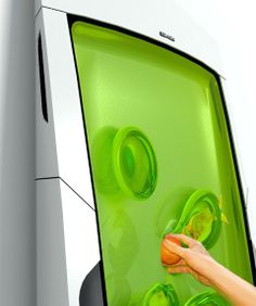 Food Preserved In Morphing Gel Bio Robot Fridge...... WOW this looks cool