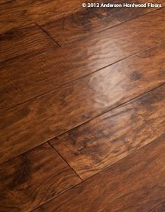 Hand scraped, rustic but modern.  Anderson Hardwood Floors - Engineered Hickory Floor: AA652-39524