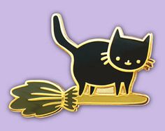Witchy Kitten Hard Enamel Pin