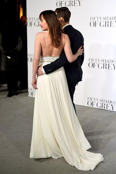 Dakota Johnson y Jamie Dornan en el estreno de 50SDG