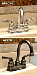 Revamp old faucets with spray paint! -- 29 Cool Spray Paint Ideas That Will Save You A Ton Of Money A huge list of easy DIY spray paint ideas for the home, revamping old things, furniture and creative wall art and craft projects. All great for beginners! Spray Paint Projects, Diy Spray Paint, Spray Painting, Painting Tricks, Craft Projects, Cool Diy, Easy Diy, Simple Diy, Home Renovation