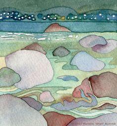 The Ocean is Salty Enough ~ Original Watercolor by Shell Rummel ©Michelle Rummel