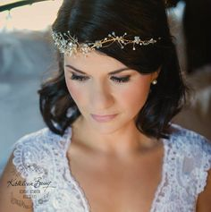 R1500  Gold or silver bridal flower crown  by KathleenBarryJewelry
