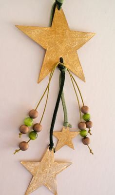 Brass star ornament or charm Handmade Christmas by LaPetiteMelina