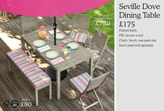 Garden Furniture | Garden & Outdoors | Home & Furniture | Next Official Site - Page 34 Garden Furniture, Outdoor Furniture Sets, Outdoor Decor, Seat Pads, Acacia Wood, Paint Finishes, Dining Table, Gardens, Outdoors