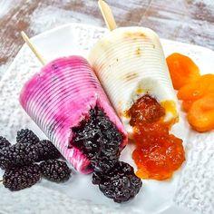 Picolé de Geleia de Frutas com Iogurte   https://www.facebook.com/vegetarianossim/photos/a.1433014513624321.1073741828.1432765226982583/1484285025163936/?type=1&theater