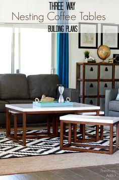 how to build three way modern nesting coffee table