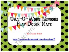 Owl-O-Ween Numbers Play Dough Mats from Stress Free Kindergarten on TeachersNotebook.com (24 pages)  - The download file contains 21 slides which feature 2 sets of play dough mats.