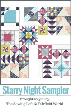 Starry Night Sampler Quilt Layout