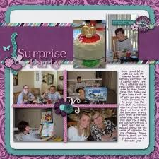 Creating a Surprise Party Scrapbook
