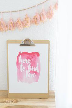 Printable Bachelor-Inspired Wall Art via @carrieelleblog