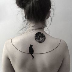 Image result for cat moon tattoo
