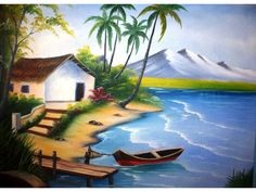 pinturas em tecidos paisagens - Pesquisa Google