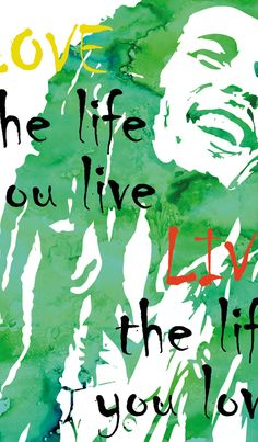 Bob Marley Poster Music Decor Bob Marley Quote by PRINTANDPROUD