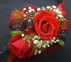 3 Red Sweetheart Rose Corsage in Mesa AZ, Watson Flower Shops